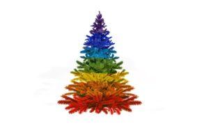 Farbauswahl künstlicher Weihnachtsbaum